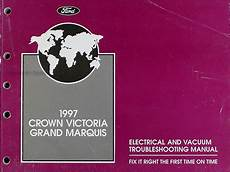car repair manuals download 1997 ford crown victoria on board diagnostic system 1997 mercury grand marquis electrical troubleshooting manual ford crown victoria ebay