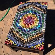 Basteln Mit Flaschendeckeln - cap table arts crafts flaschenverschl 252 sse