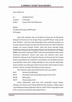 contoh laporan audit manajemen wall ppx