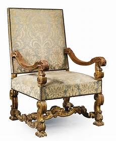 A Louis Xiv Style Carved Giltwood Fauteuil Late 19th Early