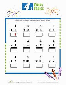multiplication worksheets on 4 s 4530 times tables 4s worksheet education