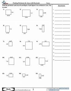 geometry worksheets area and perimeter 612 finding perimeter area with decimals worksheet area and perimeter worksheets area worksheets