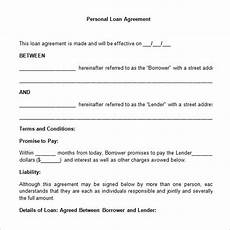 loan contract template 20 exles in word pdf free premium templates