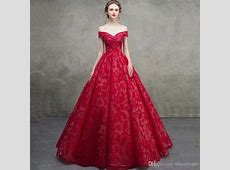 2019 Gorgeous French Lace Victorian Ball Gown Evening Prom