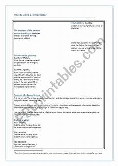 formal letter writing worksheets 23366 how to write a formal letter esl worksheet by teresasimoes