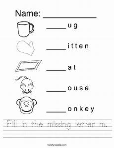 worksheets about letter m 24286 fill in the missing letter m worksheet twisty noodle