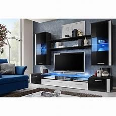 salon meuble noir meuble tv mural design quot fresh quot 250cm noir blanc