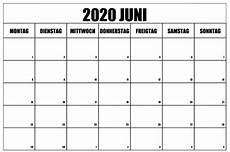 kalender juni 2020 kalender ausdruckbare vorlagen