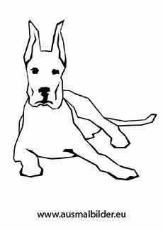 ausmalbilder liegender hund hunde malvorlagen