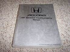 1991 honda accord electrical wiring diagram manual se lx ex dx ebay