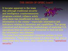 opsec level 1 the question word that describes a time ppt operations security opsec powerpoint presentation free download id 1795638
