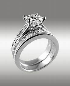 3 66ct princess cut engagement ring matching wedding band 14k solid gold for sale online ebay