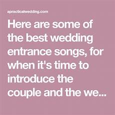 wedding entrance songs to get the party started ślub