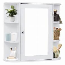 costway multipurpose wall surface bathroom storage cabinet mirror white finish walmart com