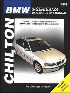 small engine service manuals 2005 bmw 3 series parking system bmw 3 series e46 and z4 repair manual 1999 2005 chilton