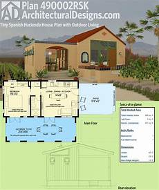 hacienda house plans architectural designs tiny house plan 490002rsk is modeled