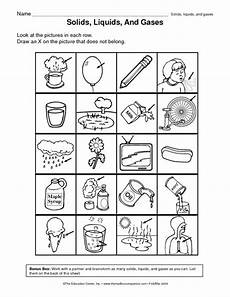 matter liquid solid gas sort matter science science worksheets states of matter