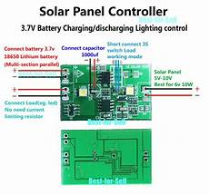 2a solar panel controller 3 7v lithium battery charge discharge w light control for sale online