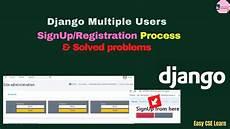 django social registration django multiple users signup registration solved problems youtube