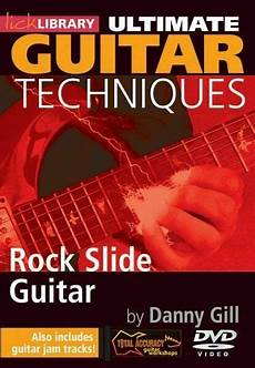 slide guitar techniques library rock slide guitar techniques dvd by danny gill for sale ebay