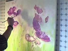 acrylmalerei abstraktes blumenbild sabine belz