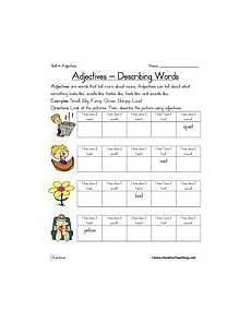 adjective worksheet have fun teaching parts of speech
