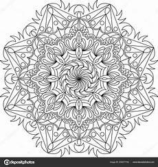 Malvorlagen Mandalas Blumen Blumen Ornament Kreise Mandala Design Erwachsene Mandala