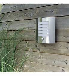 massive oslo outdoor stainless steel wall light with p i r massive from castlegate lights uk