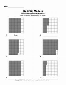 decimal worksheets with models 7336 decimal models 1