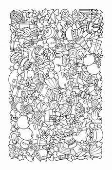 Ausmalbilder Weihnachten Muster Zentangle Vorlagen Mit Weihnachtsmotiven F 252 R Karten Und