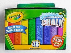 Amazon Com Washable Sidewalk Chalk 48 Assorted Bright Crayola Washable Sidewalk Chalk 48 Assorted Bright