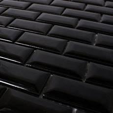 keramik metro mosaik fliesen mit facette schwarz gl 228 nzend