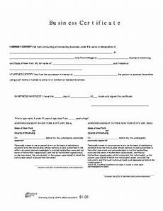 fillable online business certificate dba form chemung