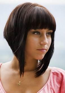 medium asymmetrical bob haircut for thick hair inverted
