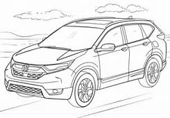 Honda CR V Coloring Page  Free Printable Pages