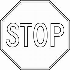 Malvorlagen Verkehrsschilder Word Stop Outline Clipart Etc