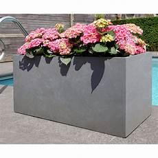 jardini 232 re en fibre de terre 100x45xh 45cm gris ciment