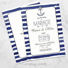 faire part de mariage theme mer faire part mariage mer happy chantilly studio