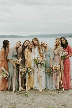 Boho Wildflower Vibes At This Lakeside Wedding In Washington