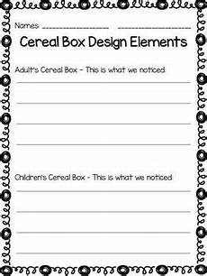 cereal box media literacy unit school media literacy