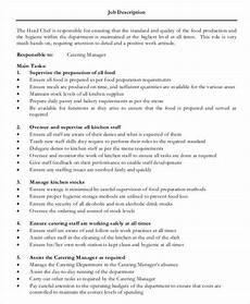 Kitchen Manager Description Pdf by Kitchen Chef Description Chef De Partie
