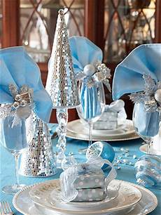 Silver And Blue Decorations by Sure Fit Slipcovers Gather Table