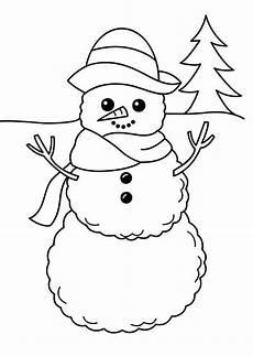Ausmalbilder Winter Schneemann A Simple Mr Snowman Figure On Winter Season Coloring Page