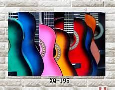 Abstrak Gitar Dekoratif Yang Modern Lukisan Alat Musik
