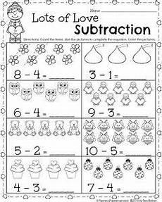 subtraction worksheet for kindergarten printable 10491 kindergarten math and literacy worksheets for february kindergarten math worksheets literacy