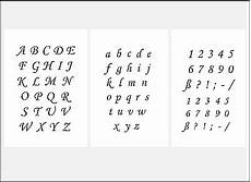 3er schablonen set nr 39 druckbuchstaben und zahlen 2 5cm