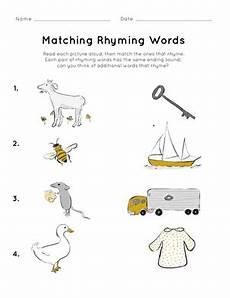 rhyming words picture worksheets matching rhyming words worksheet education com