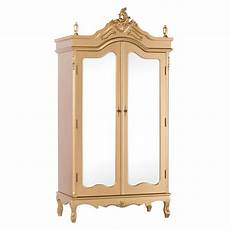 antique gold mirrored armoire furniture