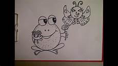 zeichnen f 252 r kinder frosch schmetterling aus einem
