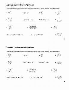 algebra worksheets on exponents 8508 algebra 2 exponent practice worksheet